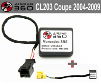 Mercedes  CL-C203 sport coupe  Class Front Passenger Seat mat Occupancy Sensor, occupied recognition sensor  emulator / bypass